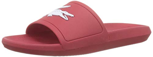 Lacoste Croco Slide 119 1 737cma001817k, Sandalias de Punta Descubierta para Hombre, Rojo Red/Wht 17k...