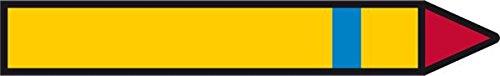 LEMAX® Rohrleitungspfeil Kältemittel, brennbar, 1 Stufe blau, 26x174mm, 30/Heft