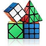 Roxenda Velocidad Cubo, Cubo magico Juego de Puzzle Cubo 2x2x2 3x3x3 skewb pirámide