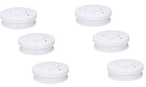 6er SET Optischer Smartwares Rauchmelder mit TÜV Zertifizierung - 1 Jahres Batterie