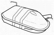 Online Automotive bmw6091Endschalldämpfer Auspuff Rückseite Box