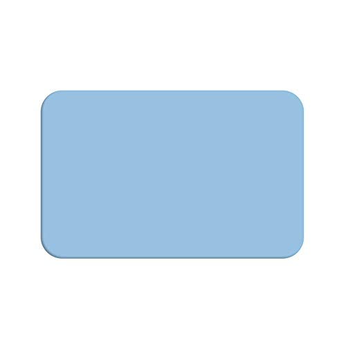 ZCHPDD Pure Color Coasters Office Mat Glasuntersetzer Schneidematte Blau 13 * 8Cm * 6St -