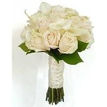 4376486715d2 Ramo de Novia rosas y calas + 2 pins de solapa de regalo