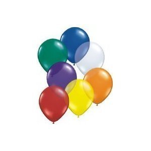 Pack of 100 Assorted Colours Party Balloons, Latex