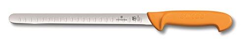 Victorinox Küchenmesser Swibo Tranchiermesser Kullenschliff flex gelb 25 cm Klingenlänge, 5.8444