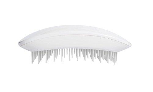 Souris Tangle Brosse à cheveux démêlante professionnelle, blanc pur