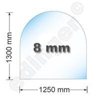 HARK Kamin Bodenplatte 1230 x 1300 x 8 mm Funkenschutz für Kaminofen 8 mm Facetteschliff