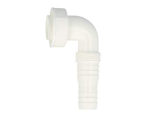 tecuro Geräteanschlusstülle 90° für Küchen-Spülensiphon Geruchsverschlüsse - KS-weiß