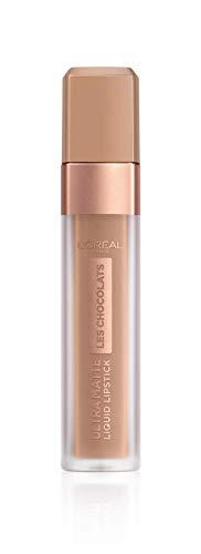 L'Oréal Paris Infaillible Ultra Matte Les Chocolats in Nr. 844 Sweet Tooth, Flüssig-Lippenstift mit Ultra-Matt-Finish und Schokoladen-Duft, 8 ml