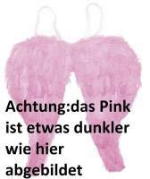 narrenkiste O22025 pink Damen Feder Flügel Engelchen Elfe