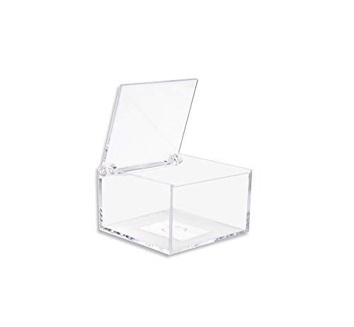Vetrineinrete® scatoline portaconfetti 36 pezzi quadrati per matrimonio comunione scatole per confetti bomboniere segnaposto in plexiglass trasparenti da decorare decoupage (6 x 4 cm)