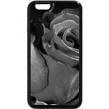 iPhone 6S Plus Coque, iPhone 6 Plus Coque (Noir et Blanc) - Rose Rouge Simple