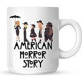 Wednesdays We Wear Black American Horror Story Mug White Mug 10oz by Mug