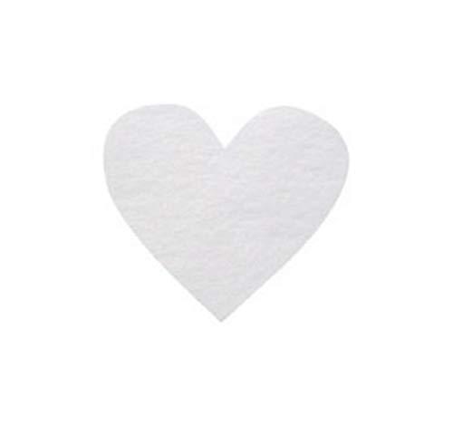 Chal - Confettis Papier Coeur Blanc