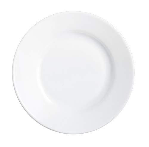 Arcoroc 22514 Assiette creuse blanche Restaurant 22,5 cm, opale, Blanc - lot de 6