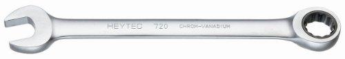 Heytec 50720017080 Clé mixte à cliquet, Argent, 17 mm