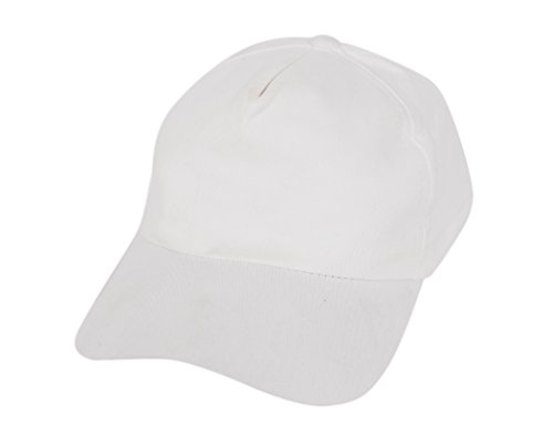 Krystle Boy's Cotton White Baseball Snapback Cap  available at amazon for Rs.125