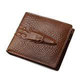 Geldbörse Herren Leder, Portemonnaie, Brieftasche, Portmonee, Geldbeutel im Vintage Krokodil Design von JINBAOLAI -