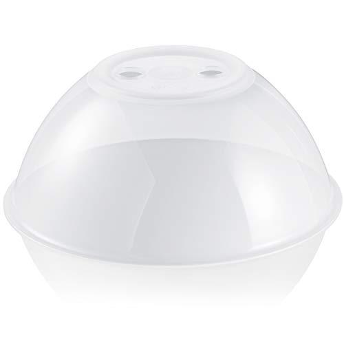Hausfelder Mikrowellenhaube XL-Abdeckung Spülmaschinengeeignet und BPA-frei | ideal als hohe Mikrowellen Abdeckhaube, Spritzschutz Deckel, Teller Haube für die Mikrowelle Mikrowellen-deckel