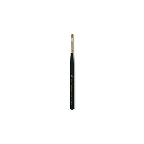 Princeton Series 3050 mini-detailer Synthetic Sable Hair Brush - Filbert - Extra Short Handle - Size: 10/0