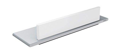 Keuco EDITION 400 11559170000 Étagère de douche en aluminium anodisé avec griffes en verre/Argent/Blanc