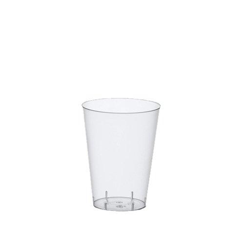 Gobelet 240, pS 0,1 l diamètre: 5,5 cm-diamètre: 7,5 cm-transparent en plastique avec trait de repère