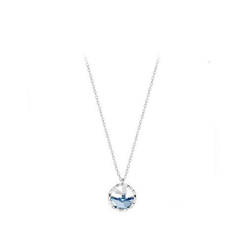 LJMSC Sterling Silber Frauen Halskette Fisch Tränen Meerjungfrau Schaum Schlüsselbein Kette Halskette Halskette -