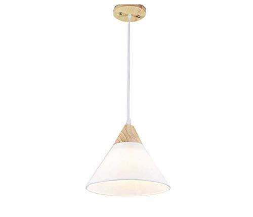 Chandelierceiling Lampenschirm Beleuchtung Kronleuchter Nordic Kreatives Restaurant Kronleuchter Einzigen Kopf Sackleinen Vintage Holz Kronleuchter (25 Cm * 27 Cm) (Sackleinen-anhänger-beleuchtung)