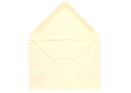 50 Stück - Briefumschläge creme / vanilla (11,4 x 16,2 cm, DIN C6) - passend für DIN A6 Karten
