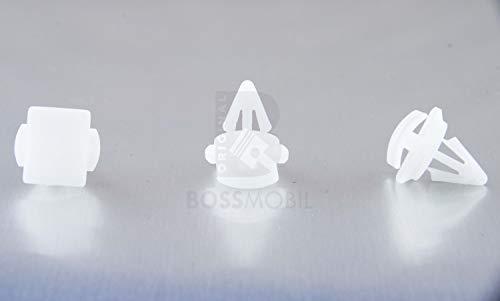 Original BOSSMOBIL kompatibel mit SEITENVERKLEIDUNGS BEFESTIGUNGS CLIP KLEMME KUNSTSTOFF WEIß PASSAT #NEU# 16 X 16 X 7 mm Menge: 10 Stück