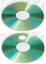 Preisvergleich Produktbild Q-Connect KF27031 CD/DVD-Hüllen selbstklebend klar