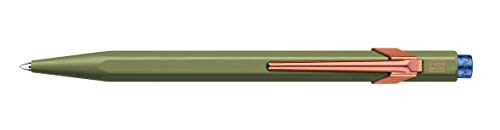 Caran d-Ache 849.547 - Bolígrafo (Verde, Azul, Clip-on retractable ballpoint...