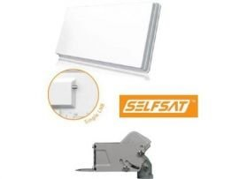 SelfSat Flachantenne H30D Single Antenne HD-Ready inkl. Selfsat DiseqC Motor HH90
