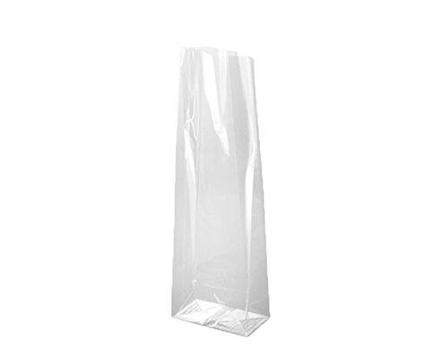Bolmastic sacchetti di Cellophane Trasparente (polipropilene) di 6+ 4x 19cm con soffietto e base quadrata 6 + 4 x 19 cm trasparente