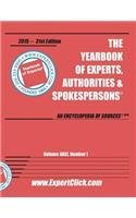 Yearbook of Experts -- 31st Edition - 2015 PDF Books