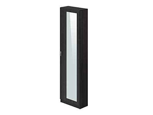 Marca Amazon -Movian Indre Modern - Armario zapatero de 1 puerta con espejo, 23 x 50 x 179 cm gris...
