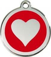 Artikelbild: Hundemarke RedDingo Herz rot M 30 mm