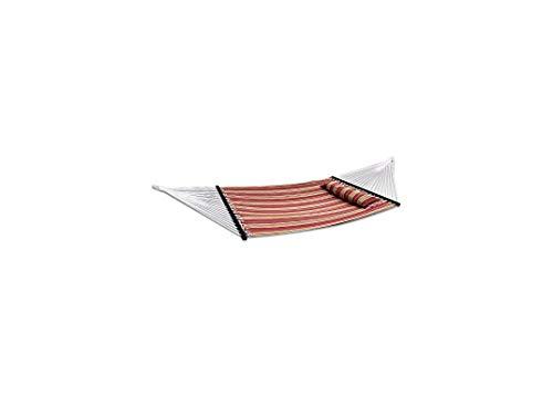 WYJW Neue Tragbare Baumwollhängematte Gesteppte Stoff Mit Kissen Doppel Spreizstange Schwere Outdoor Camping Mit Abnehmbaren Kissen Für 12Ft 135 'X 55' -