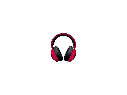 Razer Pewdiepie Kraken Pro V2 Analog-Gaming-Headset für PC, Xbox One und Playstation 4, ovale Ohrpolster, Neonrot Analog Headset