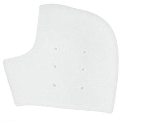 One Piece Heel Protector Silicone Slip-on Pad for Heel Pain, Heel Swelling, Heel Spur, Pain Relief