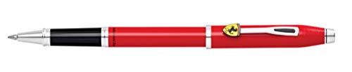 Cross Century II Collectioen for Scuderia Ferrari Rollerball (Strichstärke 0,7 mm, Schreibfarbe: schwarz, inkl. Premium Geschenkbox) rot-lack