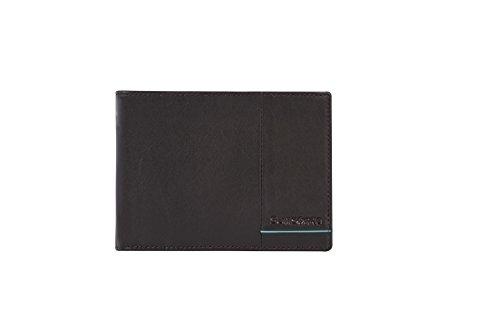 SAMSONITE Outline 2 SLG Billfold für 9 Kreditkarten, 2 Compartments + Vertical Flap, 13 cm, Ebony Brown/Turquoise