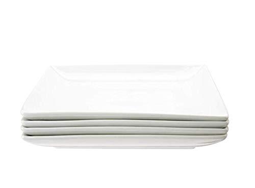 Danxia - Piatti/ciotole quadrati in porcellana bianca 20×20×2.5cm / Box of 4