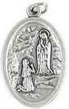 Unsere Dame von Lourdes Medaille. Heiliger Bernadette. Lourdes-medaille Lourdes Geschenk Lourdes Souvenir. Unsere Dame von lourdes und Heiliger Bernadette