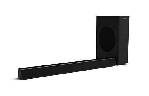 6) Philips HTL3310 2.1 Channel soundbar with Wireless sub woofer (160 Watts, Dolby Digital,Surround Sound, HDMI-Out (ARC) Deeper Bass)