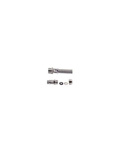 SOMATHERM Flexible Sanitaire en Inox ACS DN8 - Débit Standard - L 30cm - Raccord bicone pour Tube cuivre Ø 10 - Mâle droit 3/8'