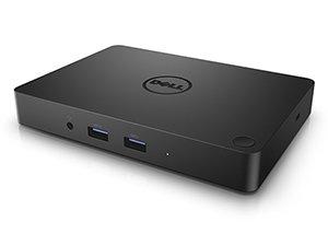 Dell WD15 USB-C Dock with 180-Watt Adapter, Dual FHD Display or One QHD Display, 3 x USB 3.0, GB LAN, Genuine UK Dell Part 452-BCDB (CTJ91)