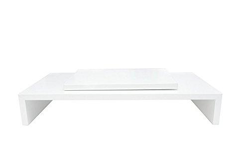 Hermes Möbel Design Monitortisch Bildschirm Ständer Monitor Erhöhung Schreibtischregal Standfuss...