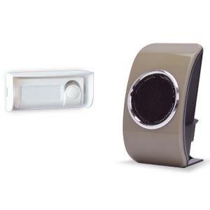 Preisvergleich Produktbild EXTEL - Carillon sans fil mobile portée 150 m 1 bouton d'appel étanche IP44 Beige Extel 081720 LOOBS BEIGE - EXT-081720