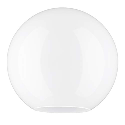 C Smethurst 20.0cm Durchmesser Weiß Glas Anhänger Globe Lampenschirme. Umfang: 63 cm, Leuchte-Loch: 3.1cm, Großes Loch: 9cm (Kugel, Kreis, kugelförmig, Licht, Ersatz) -